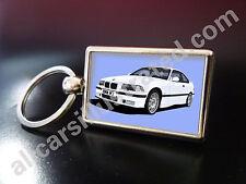 BMW M3 (E36) METAL KEY RING. CHOOSE YOUR CAR COLOUR.
