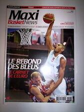 MAXI BASKET NEWS N°13 OCTOBRE 2009 LE CARNET DE L'EURO + SUPPLEMENT
