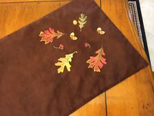 Brown Fall/ Thanksgiving Table Runner