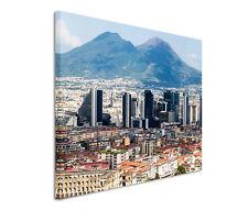 120x80cm Leinwandbild auf Keilrahmen Skyline Neapel Italien