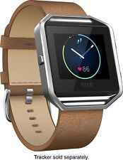 FITBIT Blaze Leather Accessory Band & Frame / Camel / LARGE / $99.95