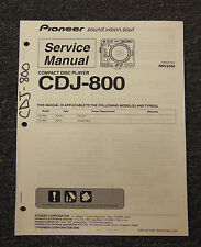 PIONEER CDJ-800 Compact Disc Player Service Manual Original OEM