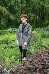 Victorian Trading Co Adelia Lace-trimmed Grey Jacket SM 26B