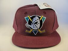 NHL Anaheim Mighty Ducks Vintage Snapback Hat Cap Plum