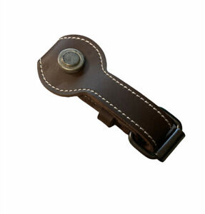 Brown Leather Belt Loop Key Ring Key Fob Holder With Snap - New