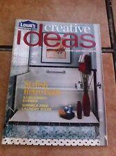 Creative Ideas for Home and Garden Magazine September October 2005