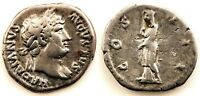 Roma-Adriano. Denario 117-138 d.C. Acuñado en roma. MBC+/VF+. Plata 3,3 g.