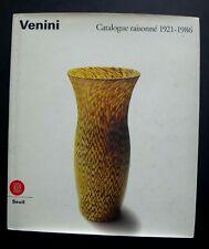Livre Catalogue raisonné 1921-1986 VENINI glass italian book verre 320 pages