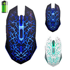 7D RICARICABILE 2400DPI 6 Pulsanti USB MOUSE OTTICO 2.4 GHZ WIRELESS GAMING MOUSE