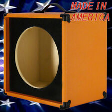 1x12 Guitar Speaker Extension Empty Cabinet  Orange Tolex & Black front baffle