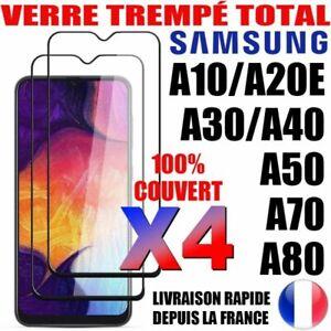 Lot-4 Verre Trempé Intégral Vitre Protection Samsung A02s A12 A21s A41 A42 A51