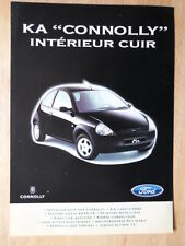 FORD KA CONNOLLY Edition 1998 French Mkt sales brochure leaflet