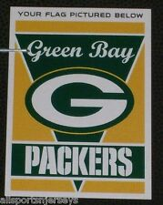 "NFL NIB 28""x40"" TEAM VERTICAL HOUSE FLAG 1 SIDED - GREEN BAY PACKERS"
