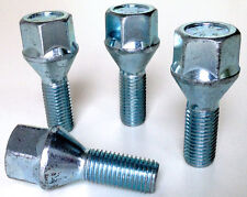 4 x Alloy wheel bolts. M12 x 1.5 Taper 19mm Hex 26mm Thread Length