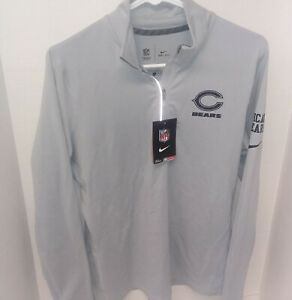 Nike Dri-Fit Chicago Bears Pullover Gray Jacket - Women's Size Large **NWT**
