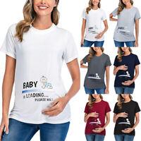 Damen Schwangere Umstandsmode Stilloberteile Stillen T-Shirt Bluse Stillhemd