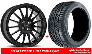 """Alloy Wheels & Tyres 15"""" Romac Pulse For Fiat Coupe 20v 97-01"""