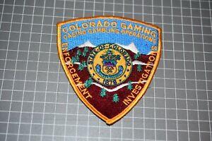 Colorado Gaming Enforcement Investigation Patch (US-Pol)