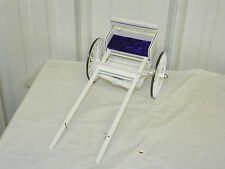 Vintage Style Saddle Horse Drawn Jog Jogging Cart Traditional Size Models White