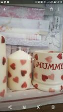 Emma bridgewater Theme Pink Hearts Set Of 2 Candles