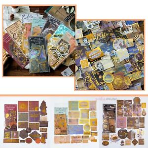 Vintage Night Diary Stationary Stickers For DIY Scrapbook Craft Decor 60PCS