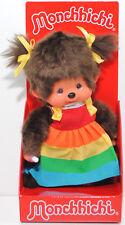 Monchhichi 220977 Rainbow Dress Girl (mit Regenbogenkleid), 20 cm, Sekiguchi