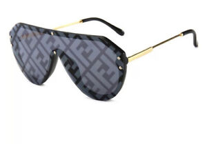 Black Fend Round sunglasses unisex Brand New