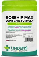 Rosehip MAX 6000mg 90 Capsules Joint Care Formula Arthritis Inflammation Lindens