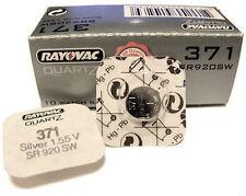 3 x Rayovac 371 sr920sw lr920 ag6 1.55v Batteria Orologio Ossido D'argento