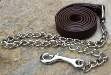New Leather Horse Show Halter Lead w/ Chain End. Quality Horse Tack