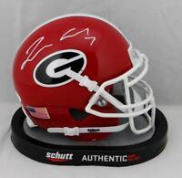 Lorenzo Carter Autographed Georgia Bulldogs Schutt Mini Helmet- JSA W Auth *Whit