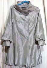 COFFEESHOP Coffee Shop Light Silver Coat Bubble Finish Lining Womens' Size M