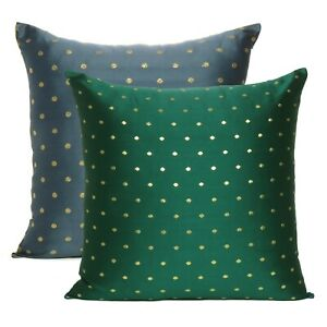 Square Pillow Cover Silk Brocade Living Room Cushion Cover Reversible Pillow