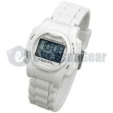 VibraLITE Mini 12 Alarm Small Vibrating Reminder Watch Kids *WHITE* VM-SWH #26