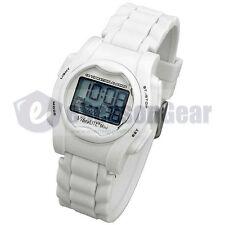VibraLITE Mini 12 Alarm Small Vibrating Reminder Watch Kids *WHITE* VM-SWH #26
