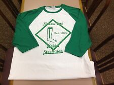 Laura Ingalls Wilder Baseball Jersey Shirt Sleepy Eye Green Stockings Slick