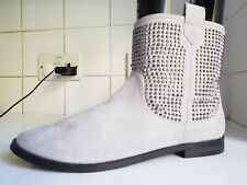 NEXT SIZE UK 7 EU 41 WOMENS FLAT STUDDED LIGHT GREY CHELSEA ANKLE BOOTS SHOES