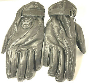 Harley Davidson M Black Leather Riding Gloves Lightly Padded Gore-tex 2RXT-H-DMC