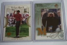 LOT 2 2002 SPA SP Authentic Golf Tiger Woods Majors & Masters SP #139 /3499 #151