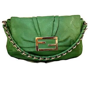 Fendi MIA Green Shoulder Bag
