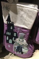 Haunted Mansion Stocking Hatbox Ghost Christmas Holidays Disney Theme Parks New