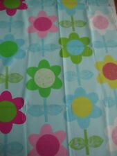 2 DESIGNERS GUILD Floral Street aqua daisy cotton curtain fabric remnants