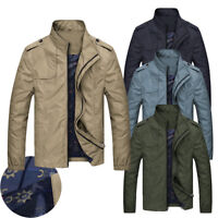Waterproof Men's jackets fashion casual jacket coats collar Slim Short thin coat
