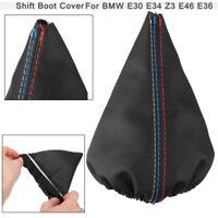 Shifter Shift Knob Gear Gaiter Boot Leather Cover FOR BMW E30 91 E34 Z3 E46 E36