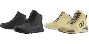 Icon Tarmac Waterproof Shoes / Boots Black or Brown for Motorcycle Street Riding