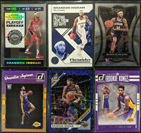 Lot of (6) Brandon Ingram, Including Playoff Ticket /199, Donruss RC, Select SP