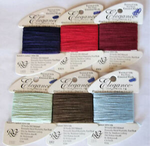 6 ELEGANCE Silk Pearl #8 Rainbow Gallery Needlepoint/Fine Counted Work Thread