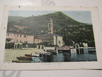 Card Postal Vintage Landscape Lake With Censors And Post Military 1912
