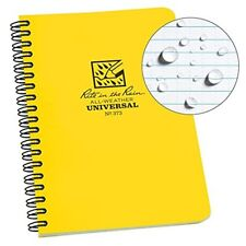 "Rite in the Rain All-Weather Side-Spiral Notebook, 4 5/8"" x 7"", Yellow Cover"