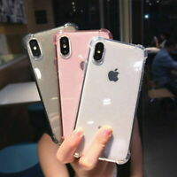 Bling Glitter Transparent Silicone Case Cover For iPhone XS Max XR X 8 7 Plus 6S
